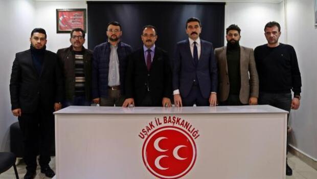 AK Partili başkandan MHP il ve ilçe teşkilatına ziyaret