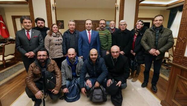 Amasya basınından Vali Işık'a taziye ziyareti