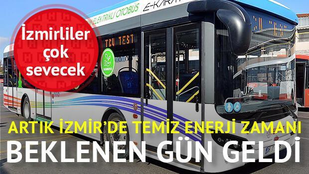 İzmir'in elektrikli otobüsleri geldi