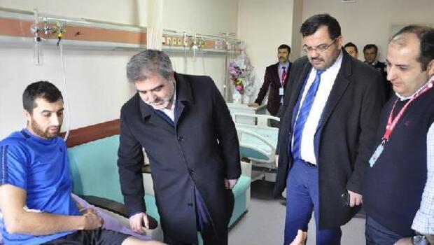 Başkan Özdemir'den El-Bab gazisine moral ziyareti