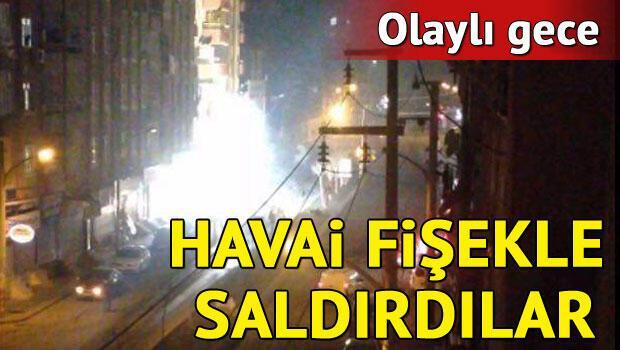 PKK'lı grup, zırhlı araca havai fişekle saldırdı