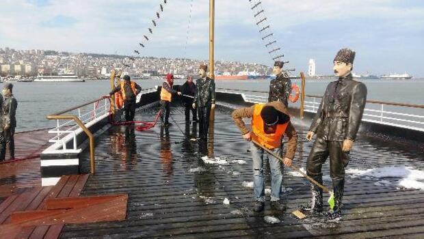 Samsun Belediyesi: Atatürk ve silah arkadaşlarının heykellerine gözümüz gibi bakıyoruz
