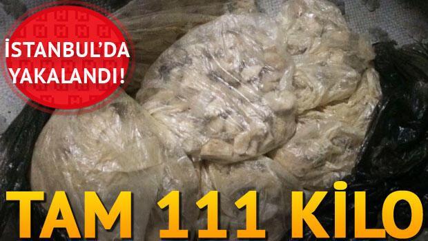 Son dakika: İstanbulda 111.5 kilo bomba malzemesi ele geçti
