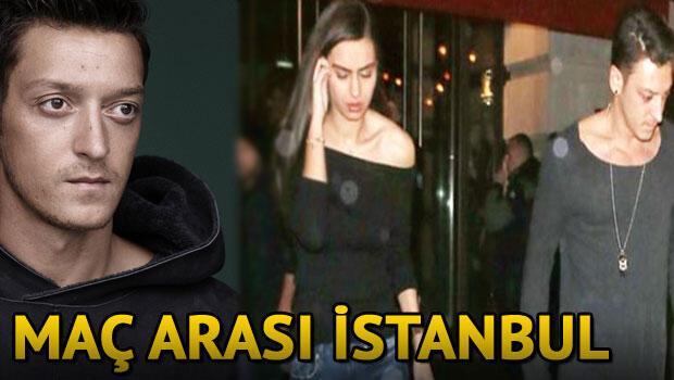 Mesut Özilden maç arası İstanbul