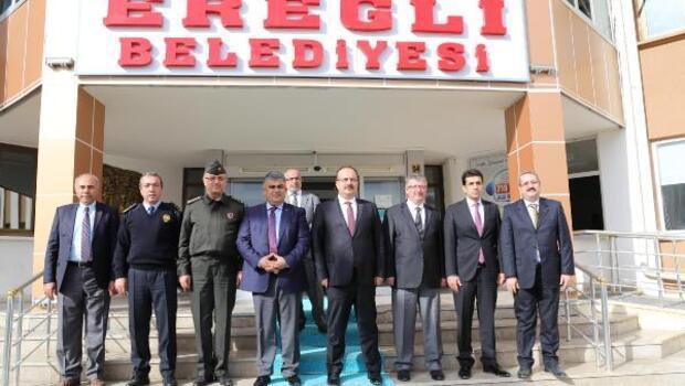 Vali, Ereğli Belediyesini ziyaret etti