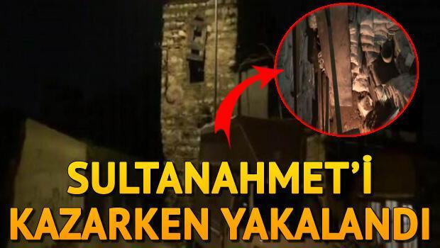 Sultanahmette kaçak kazı yaparken yakalandı