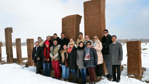 Yabancı eğitimciler Ahlat'a hayran kaldı