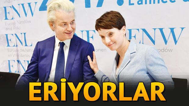Wilders ve Petry'nin oyları geriliyor