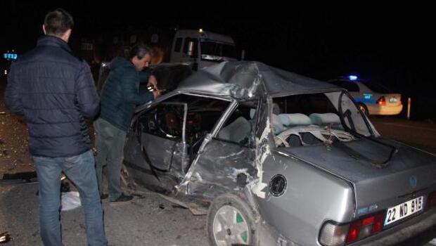 Kazadan sonra kaçan sürücüyü jandarma yakaladı