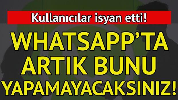 Whatsappın son hali kullanıcıları isyan ettirdi