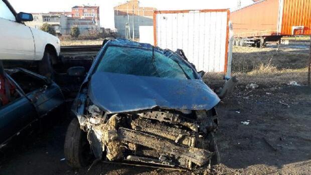 Çorlu'da otomobil takla attı: 1 ölü, 1 yaralı