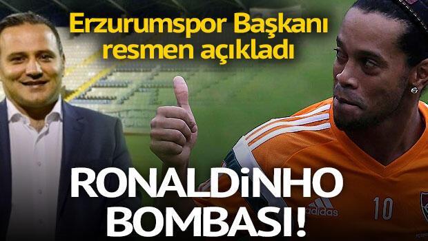 Ronaldinho bombası Erzurumspor...