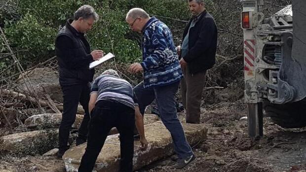 Kanalizasyon çalışmasında Roma dönemine ait mezar bulundu