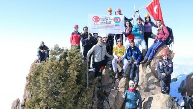 Adanalı dağcılar Haça Dağına tırmandı