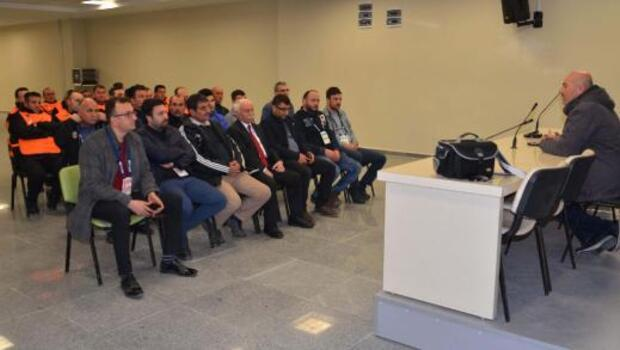 Sivasspor personeline deprem eğitimi