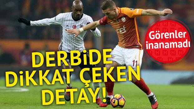G.Saray maçında dikkat çeken detay Podolski...