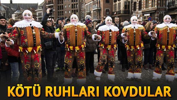 Belçika'da 'Binche Karnavalı' kutlandı