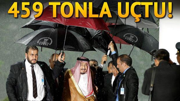 Suudi Kralı 459 ton bagajla uçtu