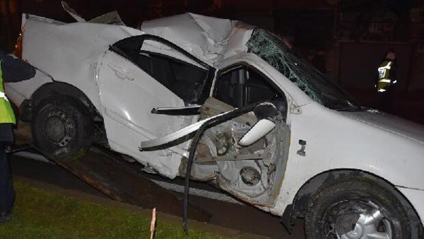 Sinop'ta polis memurunun kullandığı otomobil kaza yaptı: 1 ölü, 5 yaralı