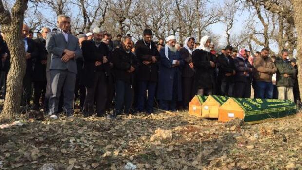 İstanbulda yangında ölen 3 çocuk, Dargeçitte toprağa verildi