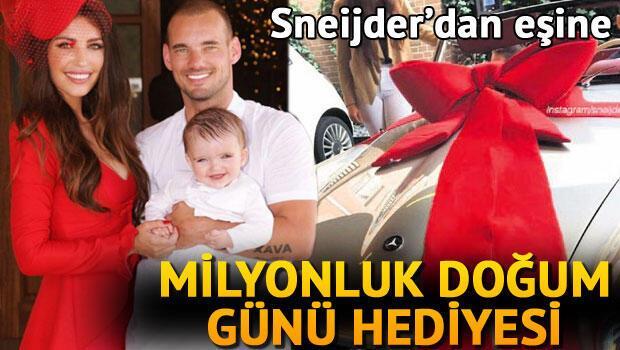 Sneijderdan eşine milyonluk doğum günü hediyesi