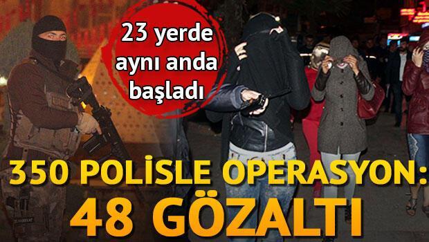 Şanlıurfa'da 350 polisle huzur operasyonu: 48 gözaltı