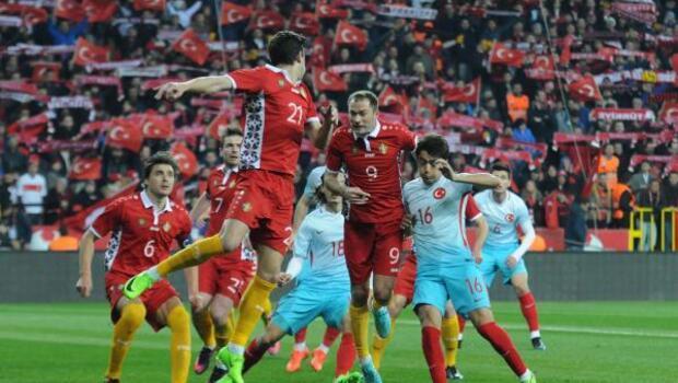 Türkiye - Moldova hazırlık maçının ek fotoğrafları