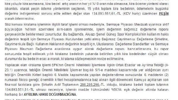 Trabzonspor, Şenol Güneş Kompleksini 15 yıllığına kiralama kararı aldı