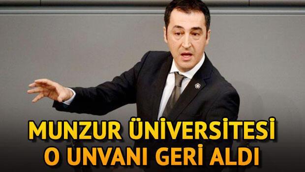 Özdemir'in fahri bilim doktorası iptal edildi