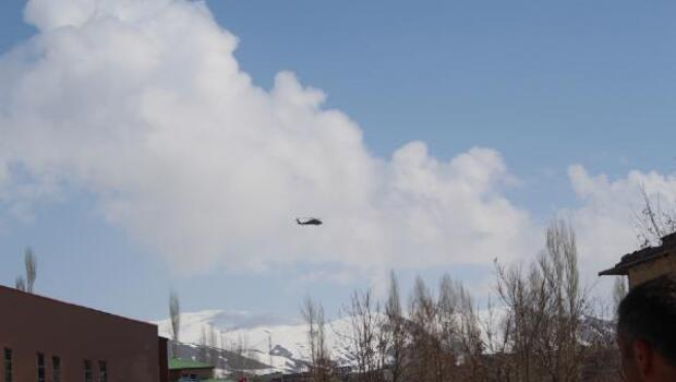 Yüksekovada helikopter hareketlilği
