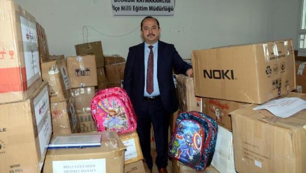 Bodrumdan Suriyedeki öğrencilere eğitim desteği