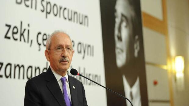 CHP Genel Başkanı Kılıçdaroğlu, amatör spor kulüp yöneticileri ve sporcularla bir araya geldi