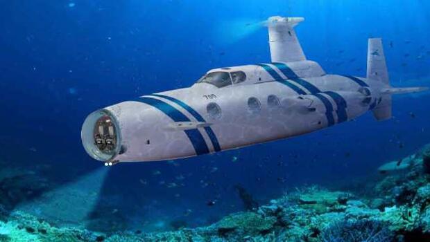 Lüksü su altına indiren denizaltı