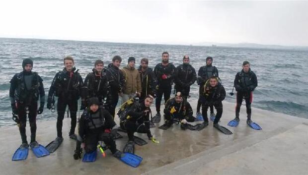 Üniversitelilere, soğuk havada dalış eğitimi