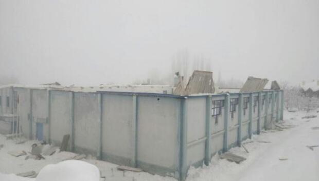 Ermenekte spor salonunun çatısı çöktü