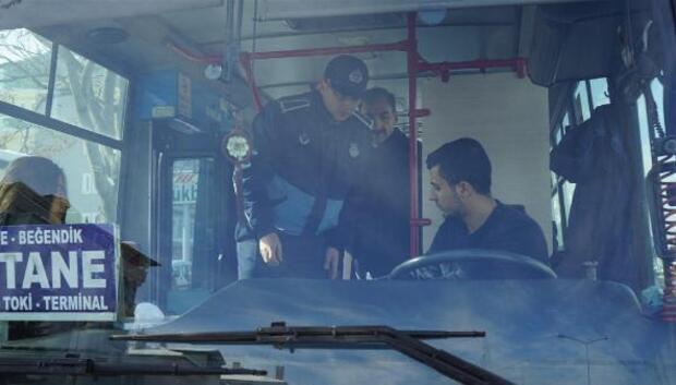 Zabıta müdürlüğü halk otobüsleri denetledi
