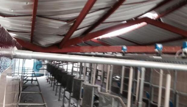 9 milyonluk fabrısanın süt sağım ünitesi yıkıldı