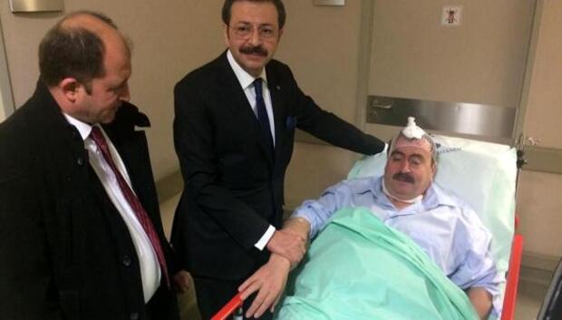 Oda başkanı kazada yaralandı
