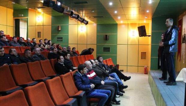 Kırklareli Üniversitesinde güvenlik personeline bağımlılık eğitimi verildi