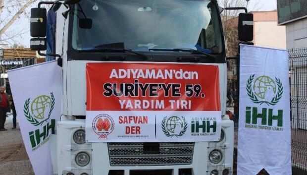 Adıyamandan, Suriyeye 2 TIR yardım