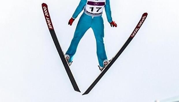 Aslı için uçtu, kayakla atlamada 4üncü oldu