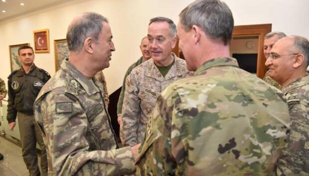 Orgeneral Hulusi Akar İncirlikte ABD Genelkurmay Başkanı Dunford ile görüştü / ek fotoğraflar