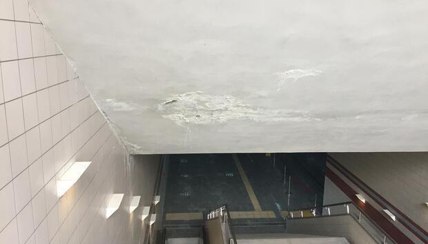 Metroda sızıntı çatlağı