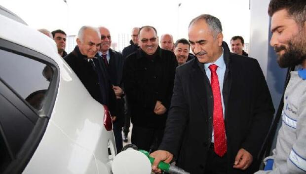 Sivas Belediyesi yeni akaryakıt istasyonu açtı
