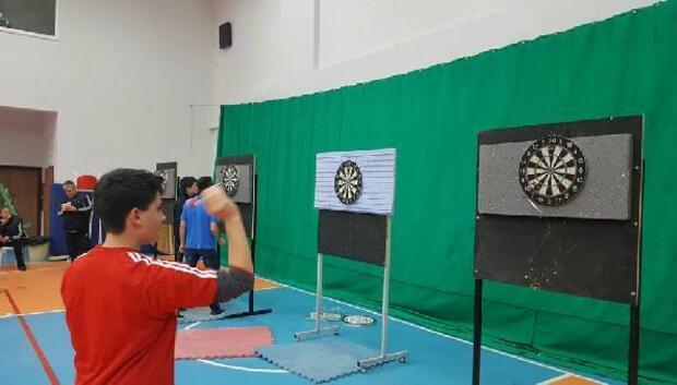 Edirne' de liseler arası dart şampiyonası yapıldı