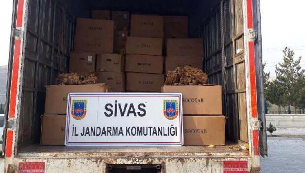 Güründe kamyondan 6.5 ton kaçak tütün çıktı