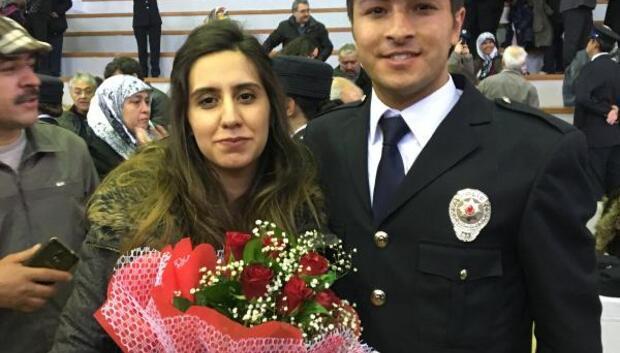 Polis adayından mezuniyet töreninde evlenme teklifi