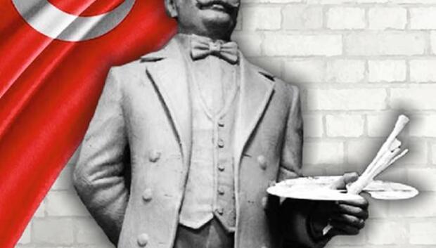 Edirneye şehit ressam Hasan Rıza heykeli