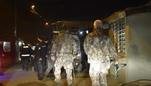 Çorluda 200 polisle uyuşturucu operasyonu