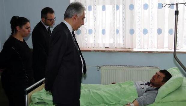 Vali Toprak, yaralı askerleri ziyaret etti